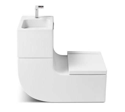 roca乐家的环保洗手池和马桶设计