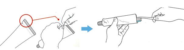 牙膏简笔画步骤图