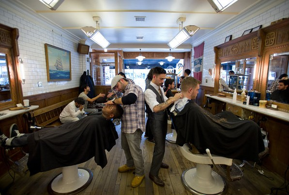 小型美发店装修复古