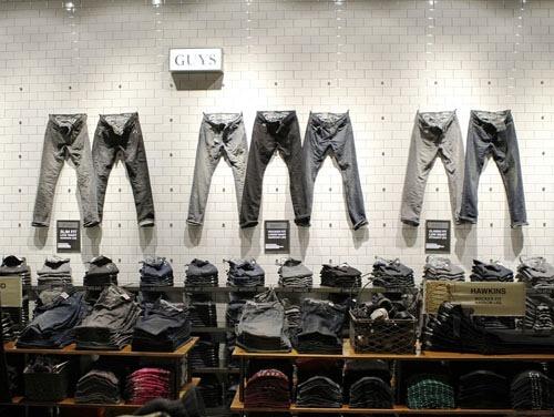 牛仔裤陈列效果图