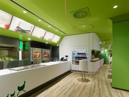 绿色化妆品店面装修