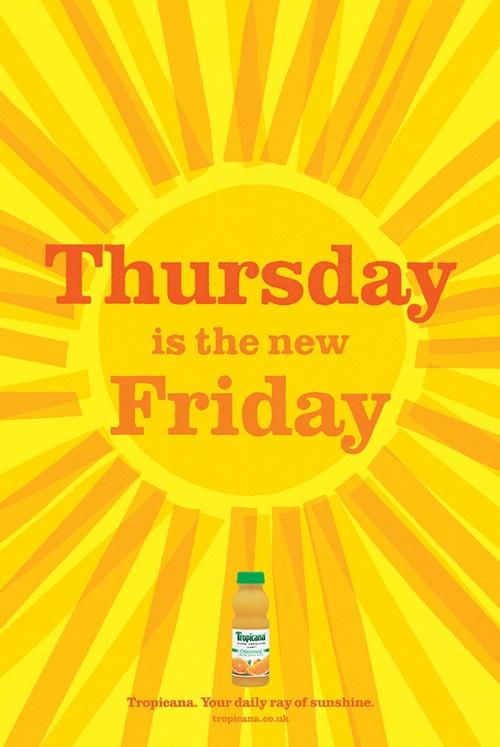 每一天都很好,tropicana果汁饮品广告图片