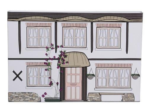 纸立体房屋步骤图