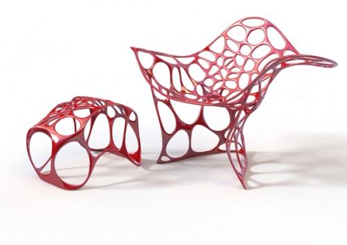 仿生设计椅子手绘图