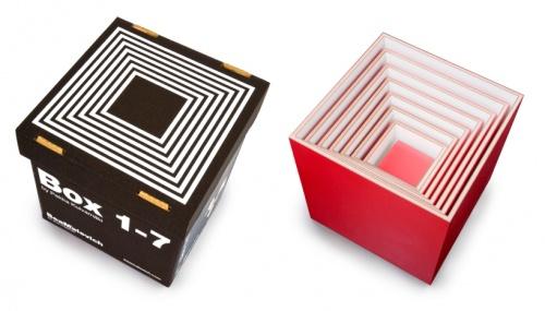 七个盒子摆放好,家具收纳新主张图片
