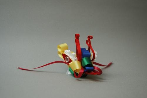丝带叠出小动物,ribbonesia作品欣赏