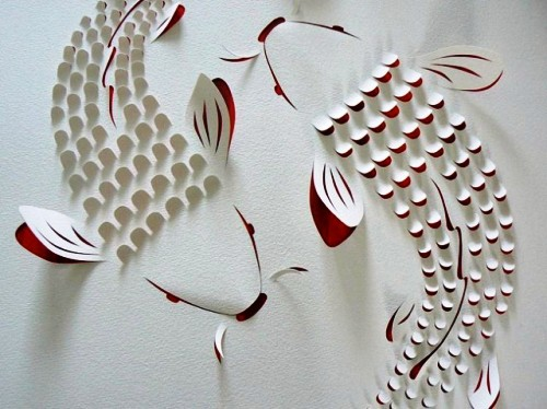 跃然于纸上,立体纸雕艺术赏