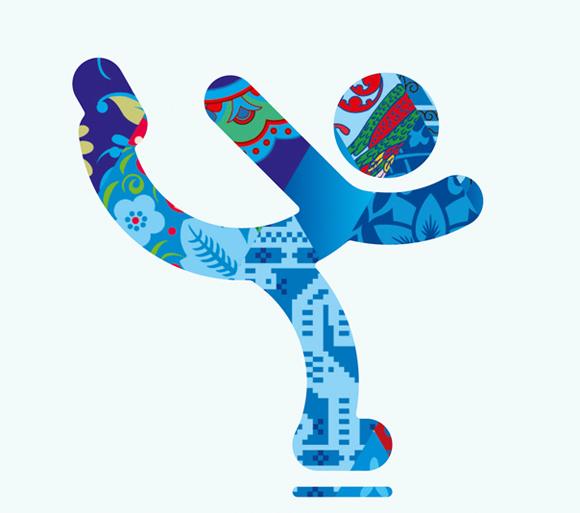 民族风吹到冬奥会,索契冬奥会图标出炉