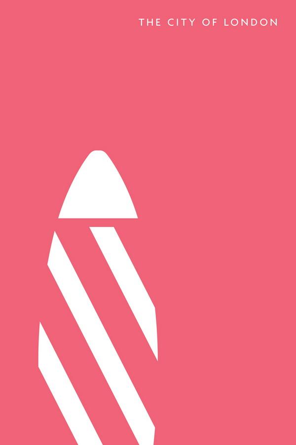 重新定义伦敦天际线,简洁的建筑图标设计赏