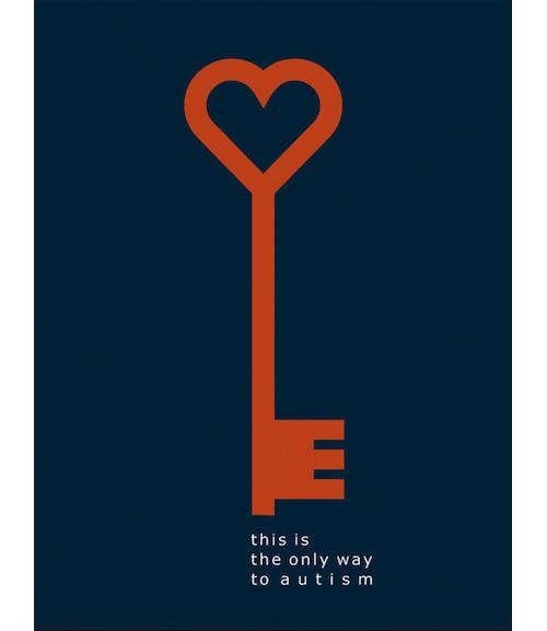 关爱孤独症儿童海报