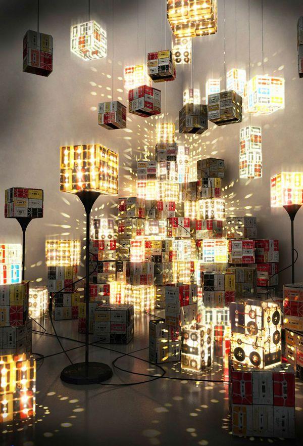 磁带未死,将盒式磁带变成潮流灯具   理想生活实验室 - 为更理想的生活