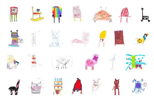 少儿版多年以前歌谱-儿童涂鸦变成真,设计师给椅子施的 魔法