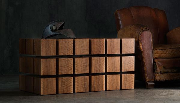 """带弹性的""""巧克力"""",rpr 磁悬浮木块茶几桌"""