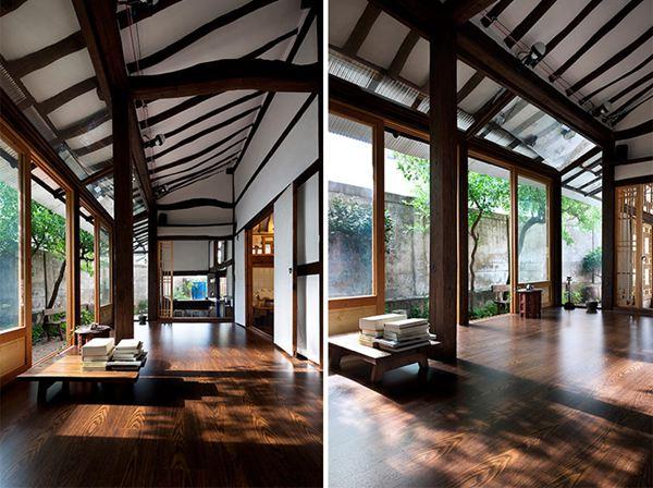 建筑師盡量保留了老房子的歷史痕跡,并加以利用,比如朽壞倒塌的木制