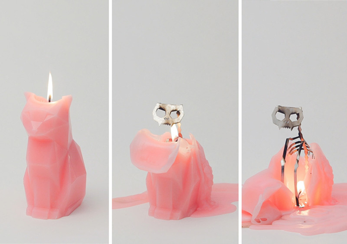 可爱的恶魔,pyropets 猫咪蜡烛