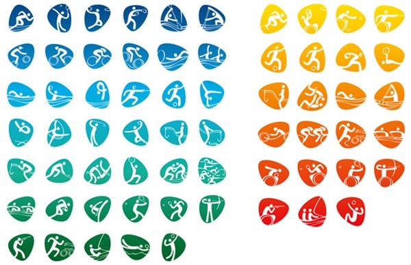 鹅卵石上的象形,里约奥运会及残奥会体育图标公布