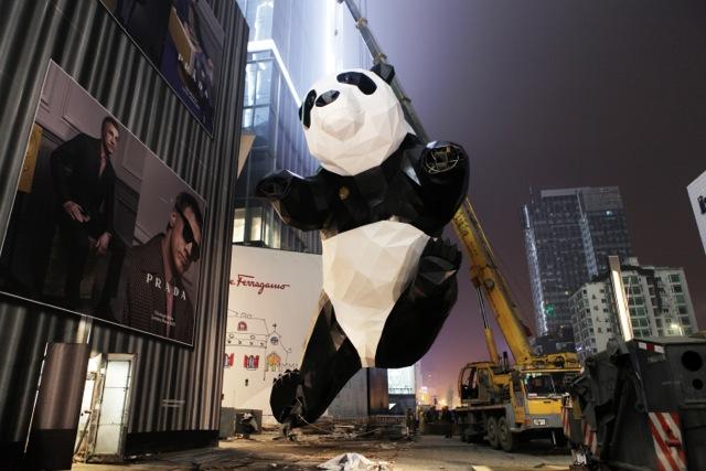 成都ifs 将于 14 日正式开业,巨型熊猫雕塑与慈善拍卖