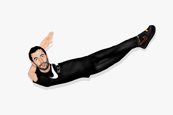 把 Riccardo Tisci 变成 NIKE logo,Mike Frederiqo 创作 Nike + R.T 联名系列主题插画   理想生活实验室 - 为更理想的生活