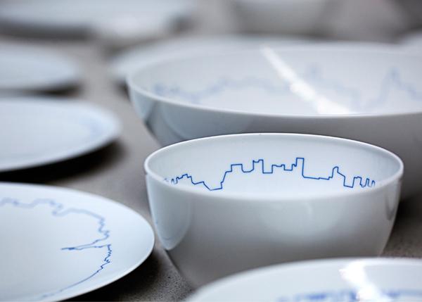 瓷器中的建筑美学,big 建筑事务所携 kilo 设计餐具