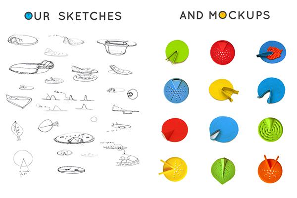 设计师分享了一些他们的设计图稿和产品原型.