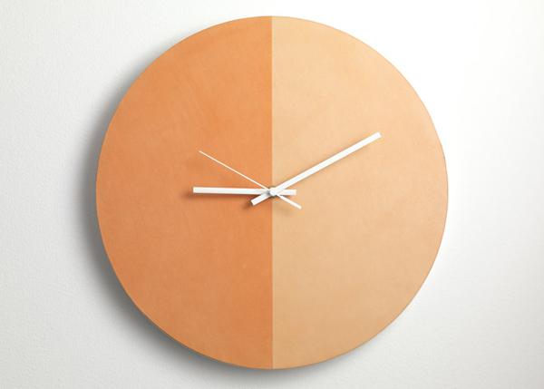 晒出来的设计,Lina Patsiou 设计皮革材质创意时钟 SunClock   理想生活实验室 - 为更理想的生活