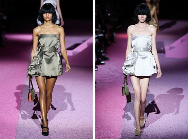 此外,模特们的短发,包袋,凉鞋都是有趣的看点.