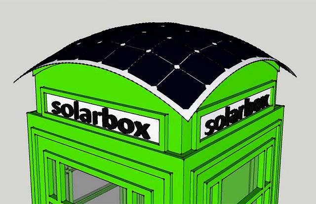 红色电话亭变绿了!伦敦推出太阳能充电亭