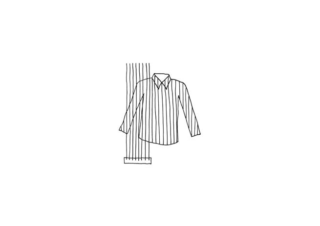 男士衬衣设计图手绘