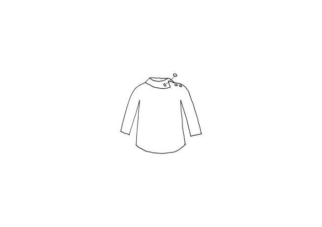 女士衬衣短袖手绘设计图展示