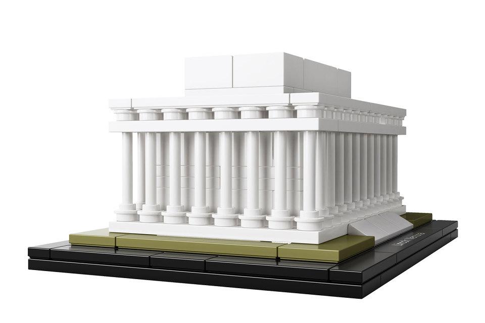 长方形,274 块积木复刻了这个仿古希腊巴特农神庙式