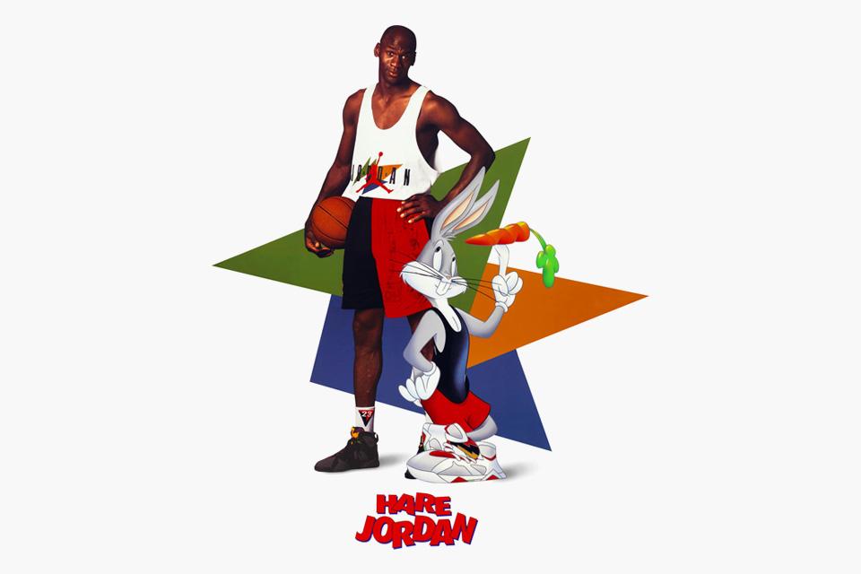 或许你还记得乔丹和兔八哥一起出演的那部真人动画电影,这位篮球运动员和贱兮兮的卡通角色之间的友谊从 1992 年,乔丹获得第一个赛季总冠军后就开始了。在 23 年后,Jordan Brand 宣布再次与华纳兄弟合作,为品牌 30 周年庆典再次送上复刻的Hare Jordan(野兔乔丹)系列,当中包括数组鞋类和服装单品。有传闻称,品牌商已经设计好Marvin the Martian和Hare的样板,而这次的限量系列也会是古典与现代风格的混合。