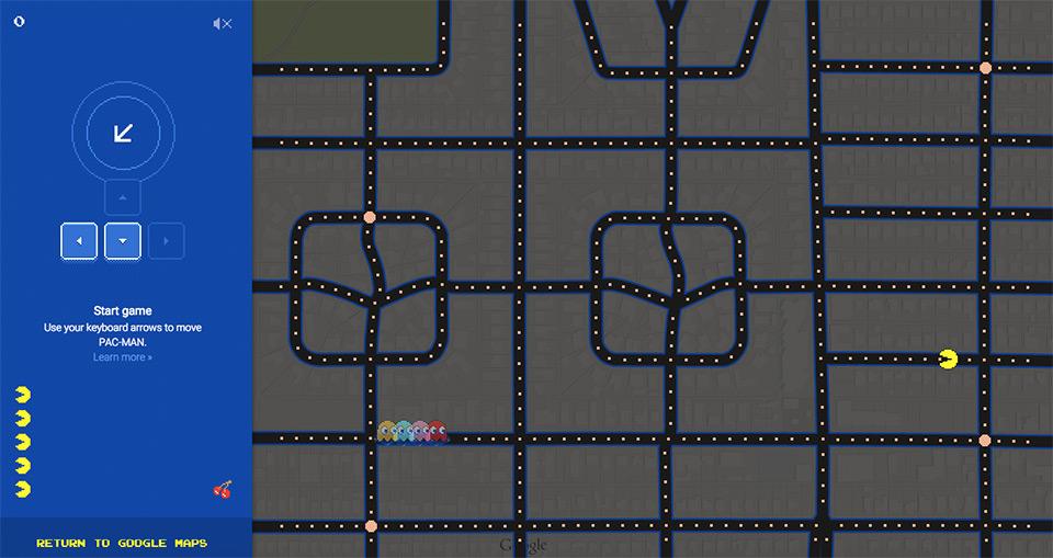 "Google 送上愚人节彩蛋游戏,Google 地图变身""吃豆人""战场   理想生活实验室 - 为更理想的生活"