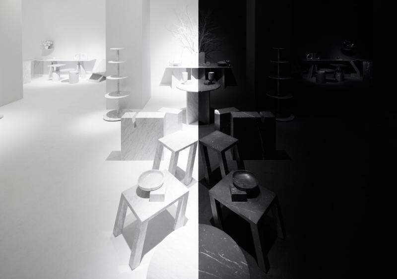 一分为二的黑白世界,来看看 nendo 为 Marsotto Edizioni 打造的展区 | 理想生活实验室 - 为更理想的生活