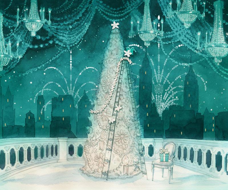 圣诞将至之际,著名珠宝商蒂芙尼发布了其 2016 全新圣诞橱窗的设计稿。每一年,蒂芙尼都会与各领域艺术家合作设计圣诞橱窗,从而使得其成为圣诞节最亮眼的景致之一。今年,蒂芙尼选择与才华横溢的作曲家 Christopher Yang 合作,以纽约城市的圣诞场景作为主题,采用色彩缤纷的蜡笔、微光闪烁的金属颜料、Tiffany 蓝以及至纯如雪的白色即著名的蒂芙尼蓝色礼盒的颜色绘成。 我们以华美闪耀的主题橱窗展现饰以臻美珠宝的圣诞树与纽约地标建筑图景,打造出独一无二的蒂芙尼假日盛宴,向品牌悠久的传承致敬,蒂